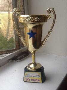 Digital poster winner trophy
